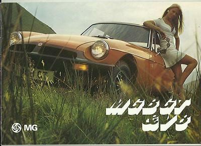 Mg Mgb Gt And V8 Sales Brochure March 1976