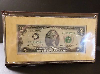 Two Dollar Bicentennial Commemorative Bill April 13 1976 First Day of Issue
