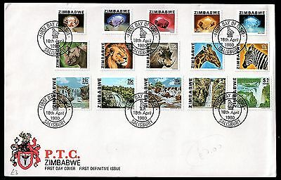 Zimbabwe 1980 Definitive FDC WS1360