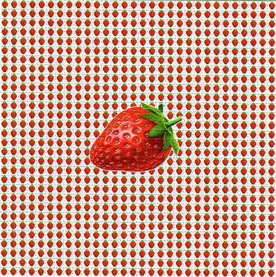 STRAWBERRIES Singles Small - BLOTTER ART Perforated Sheet acid free art page