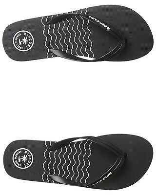 New Rip Curl Men's Search Waves Thong Rubber Mens Shoes Black