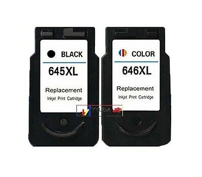2-Pack Ink Compatible For Canon PG-645XL CL-646XL for PIXMA MG2560 MG2460 MX496