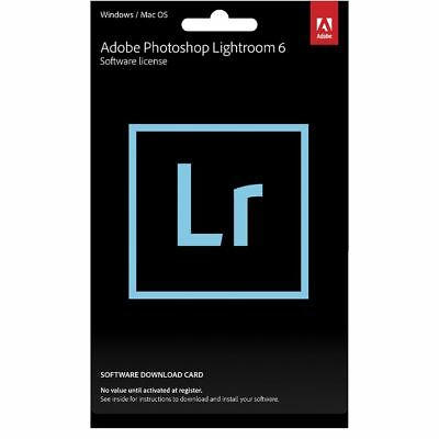 Adobe Photoshop Lightroom 6 Card