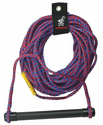 Kwik Tek 1-Section Water Ski Rope with Aluminum Handle with End Caps 75-Feet