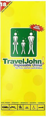 TRAVELJOHN Disposable Urinal Pouch (18 Pack)