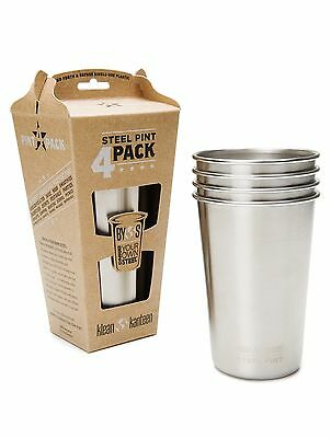 Klean Kanteen Pint Cup 4-Pack 16-Ounce Stainless