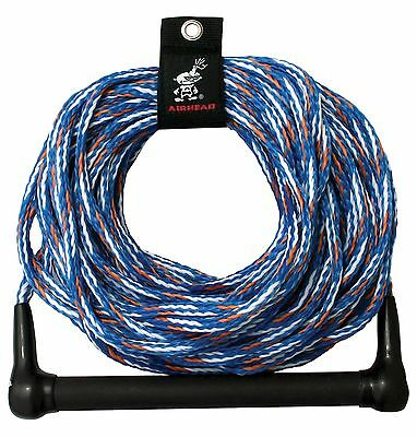 Kwik Tek 1-Section Water Ski Rope with 4-Inch Finger Guards 75-Feet
