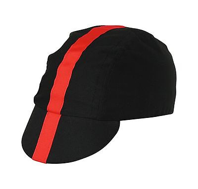 Pace Classic Cycling Cap Black with Red