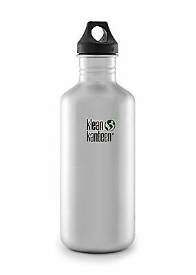 Klean Kanteen Stainless Steel Bottle with Loop Cap 27-Ounce (Brushed Stainless)