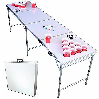 GoSports GoPong 8 Foot Beer Pong Table with Customizable Dry Erase Surface