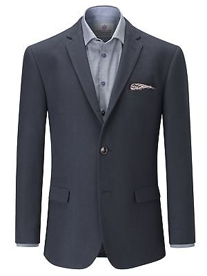SKOPES Extra Tall Length Soft Canvas Tailored Sports Jacket in Navy