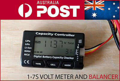 CellMeter-7 Digital Battery Capacity Voltage Checker Meter LiPo Li-lon Balancer