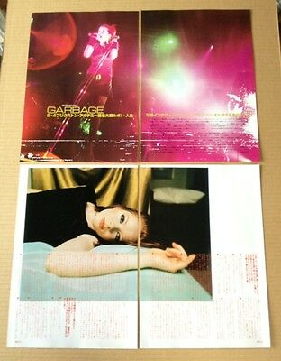 1998 Garbage Shirley Manson 8pg 4 photo JAPAN mag article / press clipping 8r