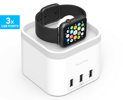 mbeat Power Time Apple Watch Charging Dock - White