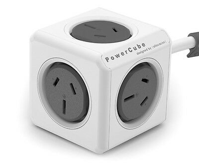 Allocacoc 5-Outlet Original 1.5m Extended PowerCube - Grey