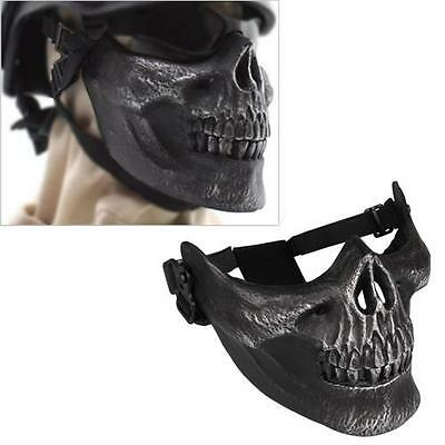 Army Skull Skeleton Airsoft Paintball BB Gun Game Half Face Mask Protection