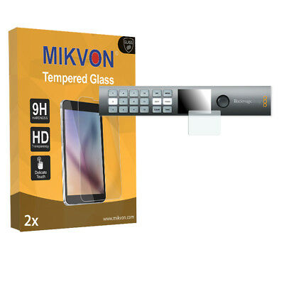 2x Mikvon Tempered Glass 9H for Blackmagic Smart Videohub 12x12 Screen Protector