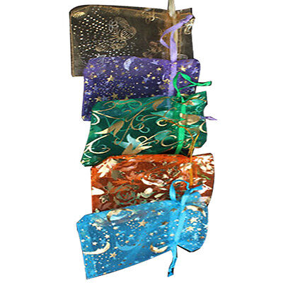 50pcs Organza Jewelry Candy Pendent Mixed Color Mini Gift Pouch Bags Wedding