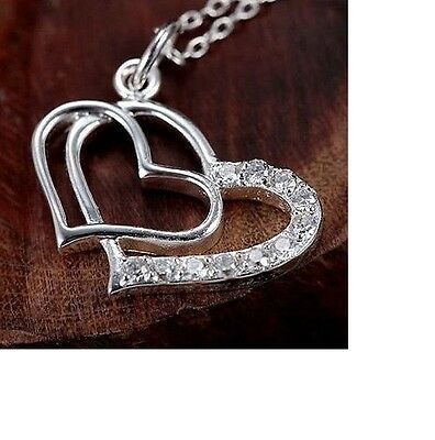 925 Sterling Silver Filled Necklace,Pendant and Earrings Set Gift Bag