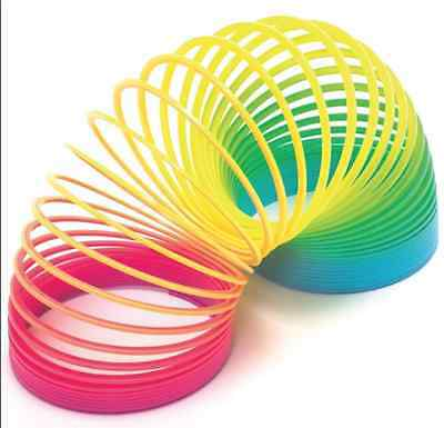 6.5Cm Rainbow Spring Slinky Stretchy Toy For Kids
