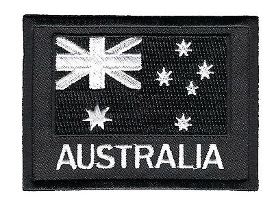 Australian National Flag ANF Patch White on Black