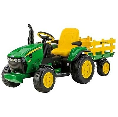 Peg Perego Toys 12 volt John Deere Ground Force Tractor and Trailer Battery Toy
