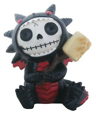 Furrybones Scorchie Figurine Black Dragon Skeleton Skull Gothic Gift Different