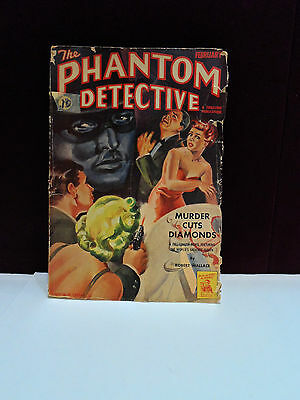 THE PHANTOM DETECTIVE STORIES FEBRUARY 1943 Vol.39, No.3 novel Robert Wallace