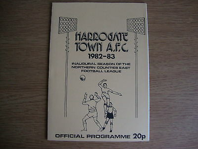 1982/3 Harrogate Town v Manchester United - Friendly - Excellent Condition