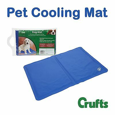 Crufts 40 x 30 cm Pet Cooling Mat The Instant Cooler Pad for Hot Dogs