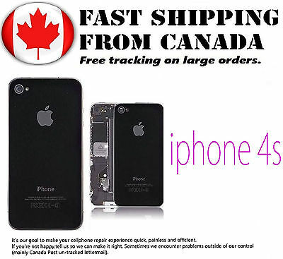 Replacement Part For iPhone 4S Black Back Glass Battery Cover Housing Glass