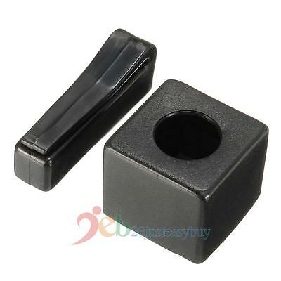 Magnetic Snooker Billiards Pool Table Plastic Cue Chalk Holder with Belt Clip