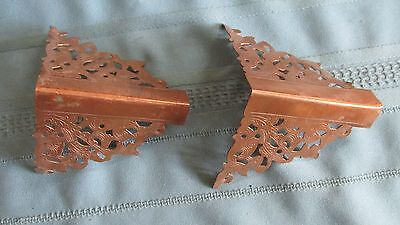 Antique Fancy Copper Cornice Corners-Georgetown Colorado Collection