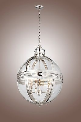 19Th Century Vicorian Style Globe Chandelier Rustic Industrial Style
