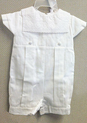 Andrew Christening Outfit - Button Back & Leg - White