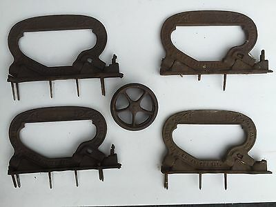 Antique Pocket Door Trolley Wheels Rollers Barn Parlor Wilcox Victorian Ornate