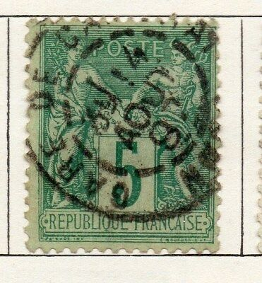 France 1876 Early Issue Fine Used 5c. 092608