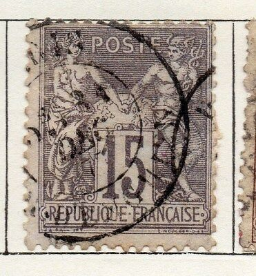 France 1876 Early Issue Fine Used 15c. 092610