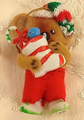 "Critter Sitters Melbourne & Perth Christmas Ornament Bear 3"" Tall"