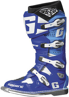Answer Racing by Gaerne SG12 Blue MX Motocross Offroad Motorcycle Riding Boot 10