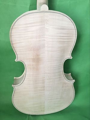 "NEW white viola  16.5""  Guarneri model  nice flamed maple back  NO1"