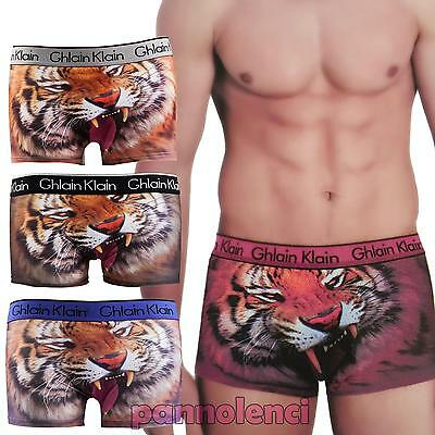 Boxer man underwear lingerie tiger tiger underpants shorts new H234