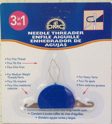 3 in 1 DMC Needle Threader   Cross Stitch   Embroidery  Tapestry