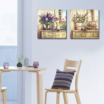 HD Canvas Print home decor wall art painting Picture-Flower 2PC No Frame #013