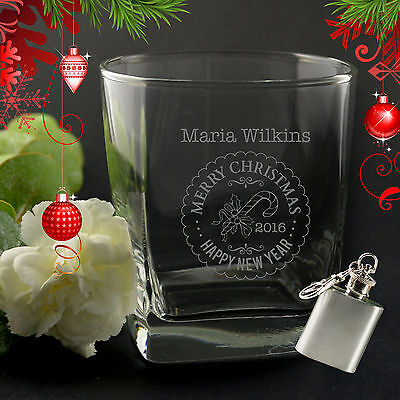 Personalised Christmas Engraved Scotch Glass - Gift, Scotch lover, For him