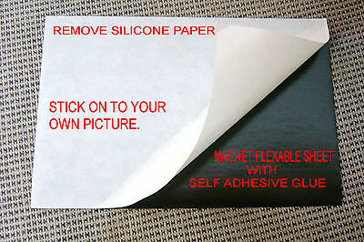 8+1 flexible magnet sheet,self adhesive, one side silicone paper.10X15 cm ֳ4X6""