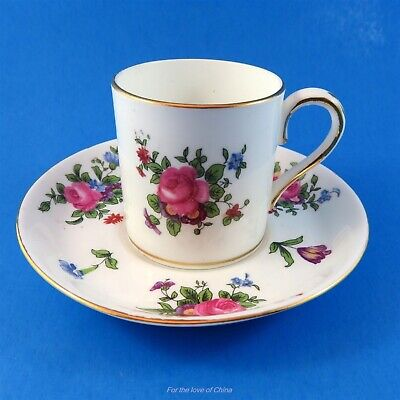 Pretty Floral Crown Staffordshire Demitasse