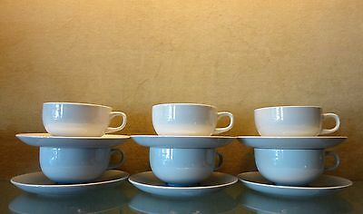 """Midcentury Royal Copenhagen Cups and Saucers """"Blue Line"""" Design by Grethe Meyer"""