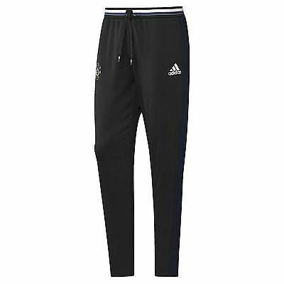 adidas Mens Gents Football Soccer Manchester United Training Pants - Black