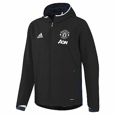 adidas Mens Gents Football Manchester United Training Presentation Jacket Black